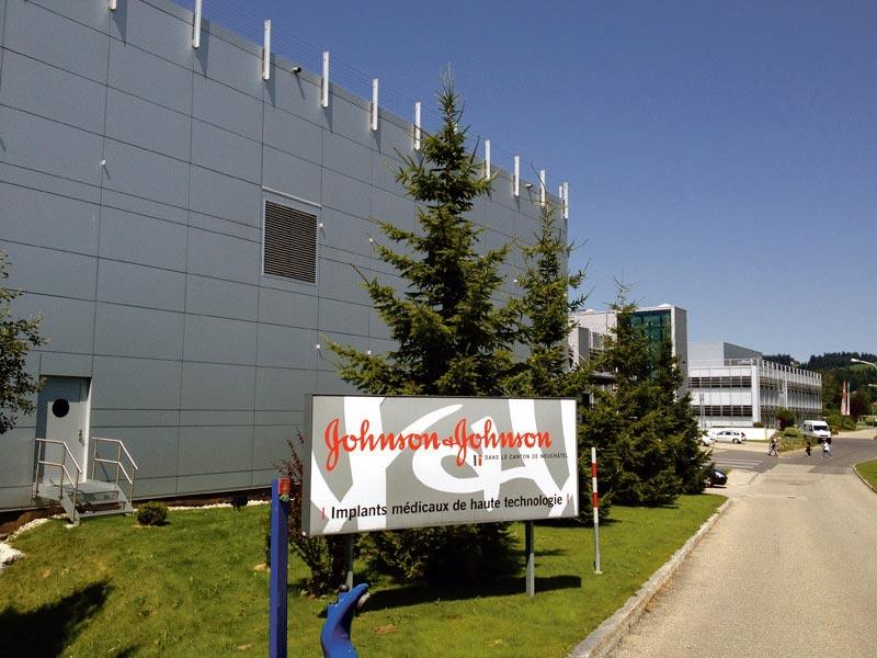 Le site de Johnson & Johnson au Locle