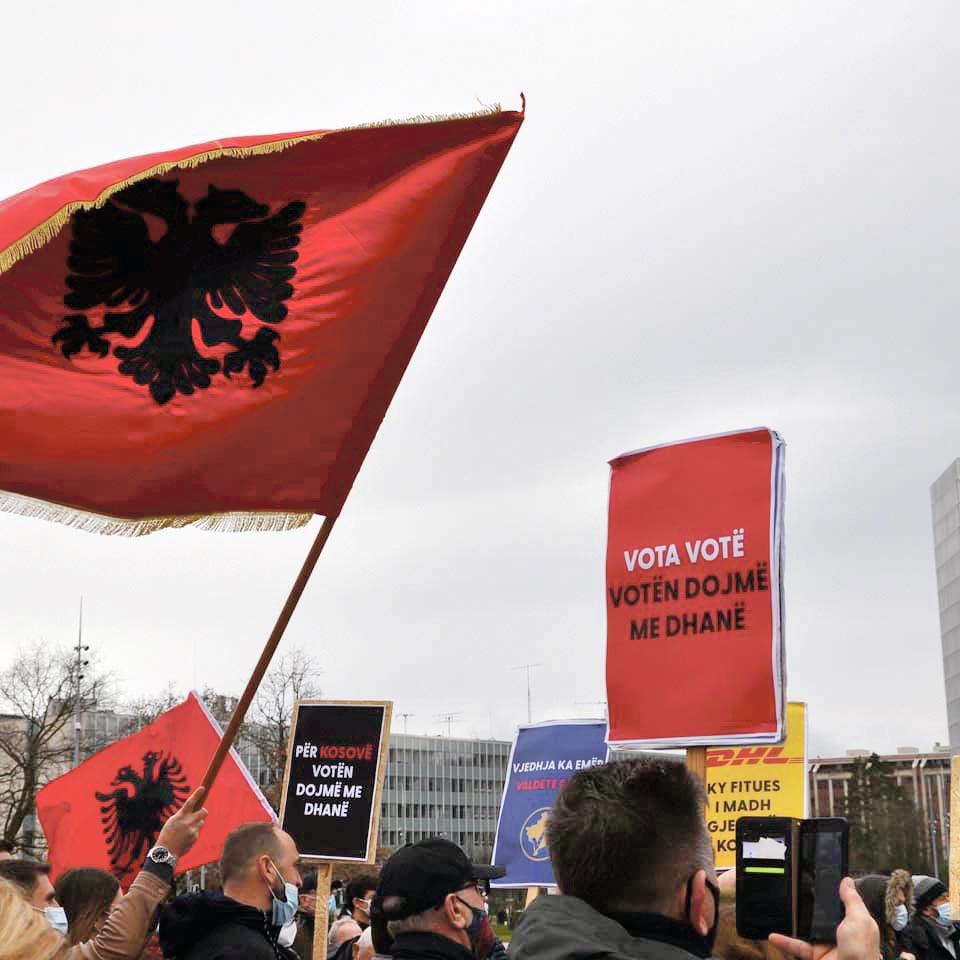 Manifestation albanais·es de Suisse, Genève, 7 février 2021