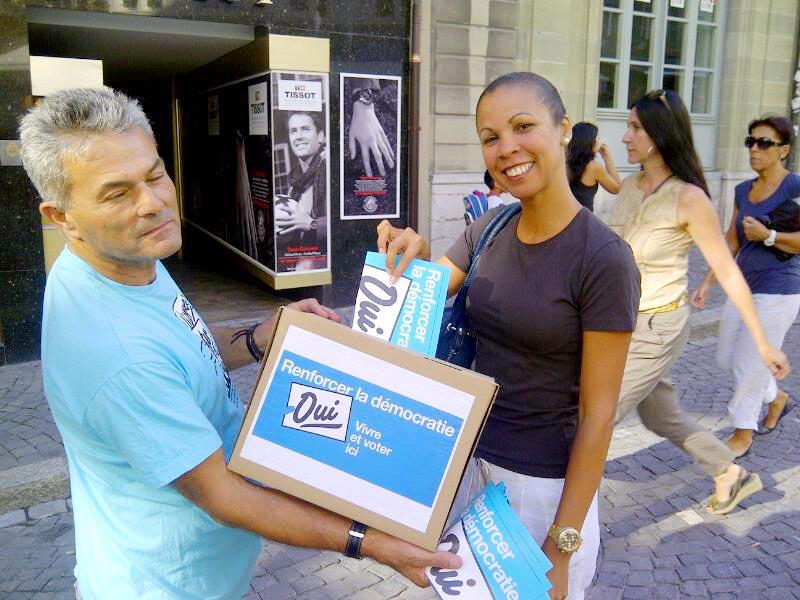 Campagne droit de vote des étrangers et étrangères, Vaud, 2011