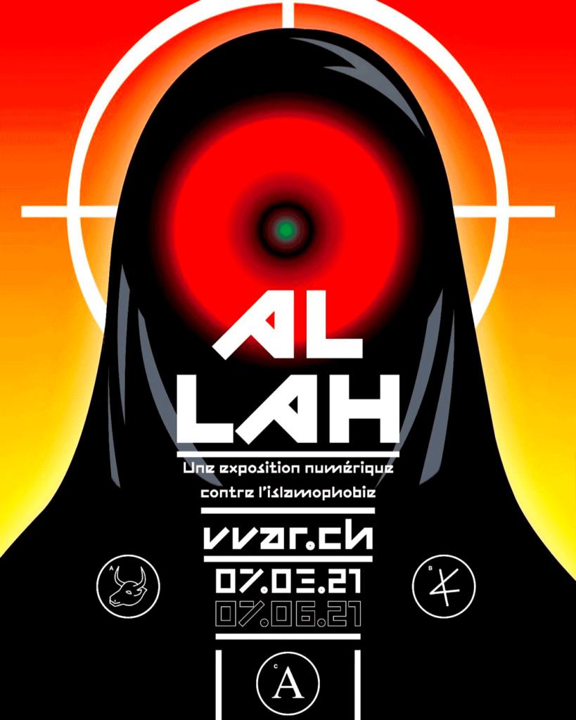 Affiche de l'exposition Al-Lah, contre l'islamophobie