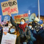 Manifestantes lors d'une manifestaion contre l'islamophobie, Genève
