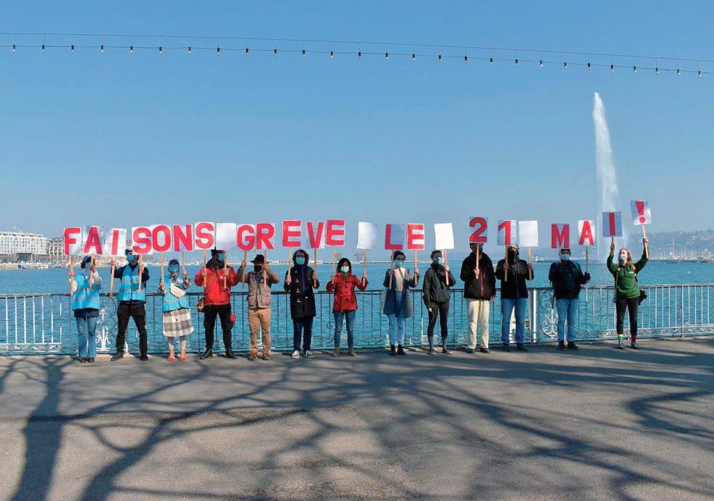 Rassemblement pour la Grève pour l'avenir, Genève, 1er mars 2021