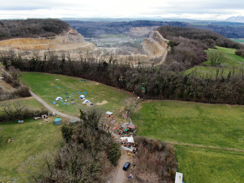Vue aérienne de la ZAD de la Collin