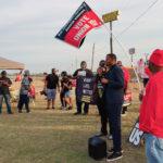 Rassemblement de soutien organisé par Black Lives Matter en soutien à la création d'un syndicat chez Amazon à Bessemer, Alabama, 13 mars 2021
