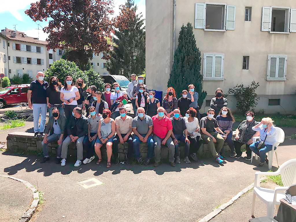 Habitants de la Cité Léopard à Genève