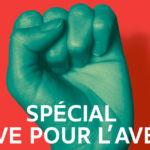 Couverture horizontale du numéro 388 de solidaritéS: Spécial grève pour l'avenir