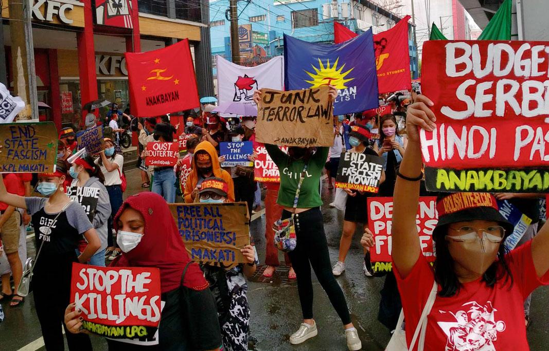 Marche contre la répression, Manille, décembre 2020