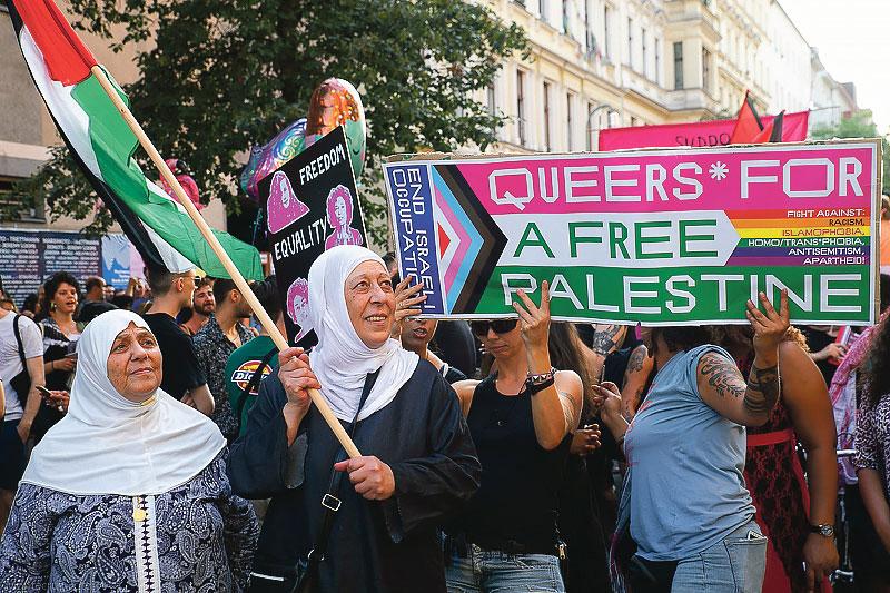 Manifestation Queers for Palestine, Berlin