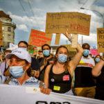 Manifestation du personnel du CHIV, Lausanne, juin 2021