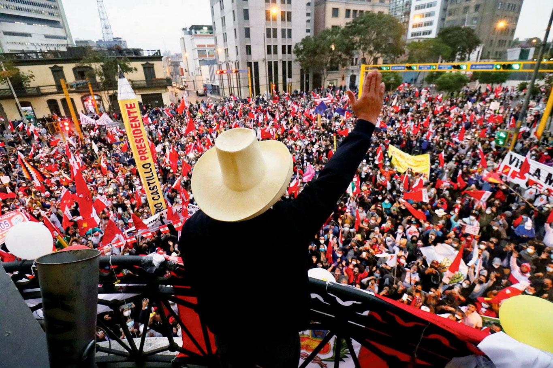 Meeting électoral de Pedro Castillo, Sicuani, 1er juin 2021