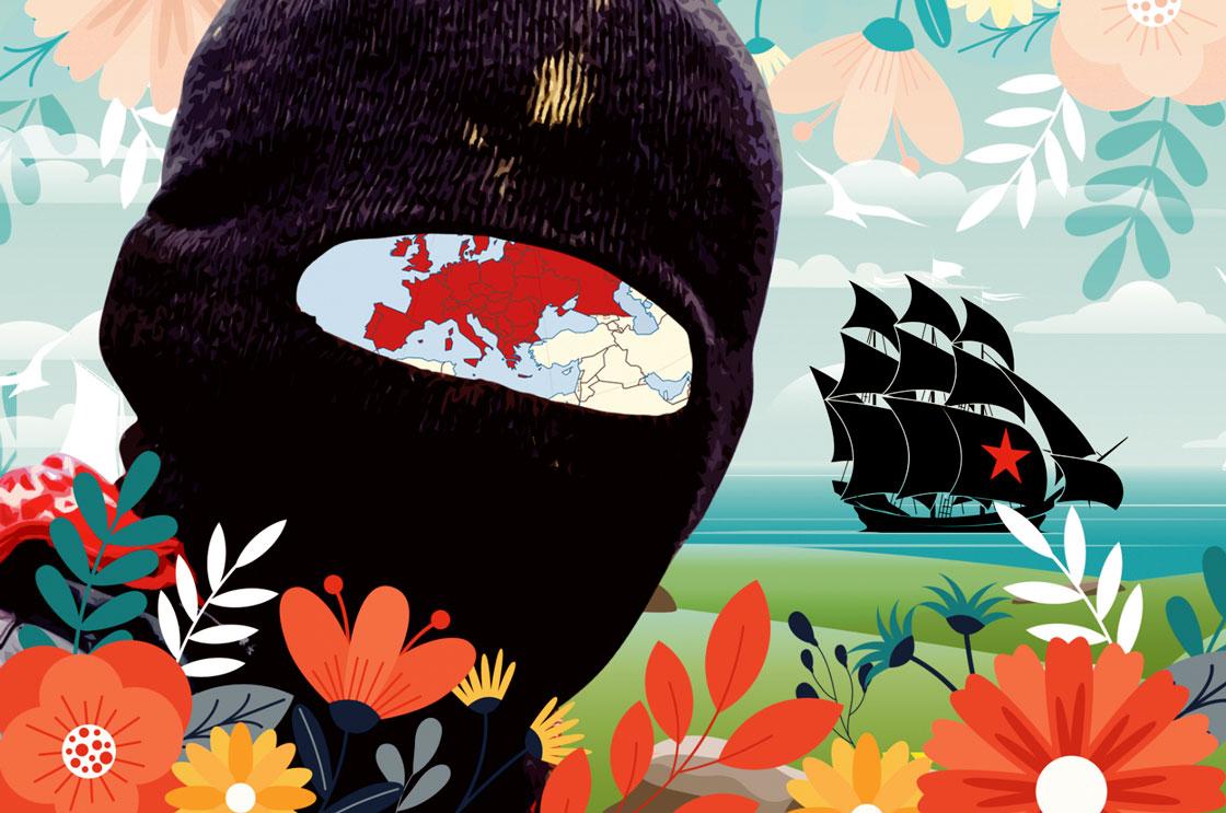 Illustration pour annoncer le tournée zapatiste européenne