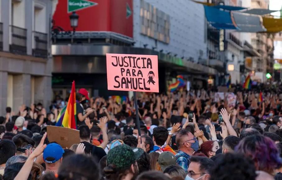 Photo : Manifestation de soutien à Samuel Muñiz à Madrid
