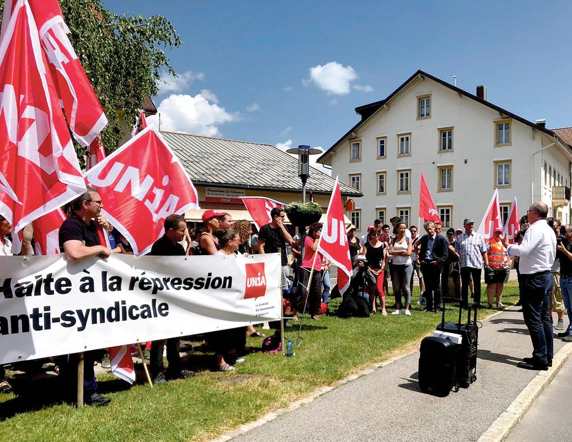 Rassemblement d'Unia à la vallée de Joux