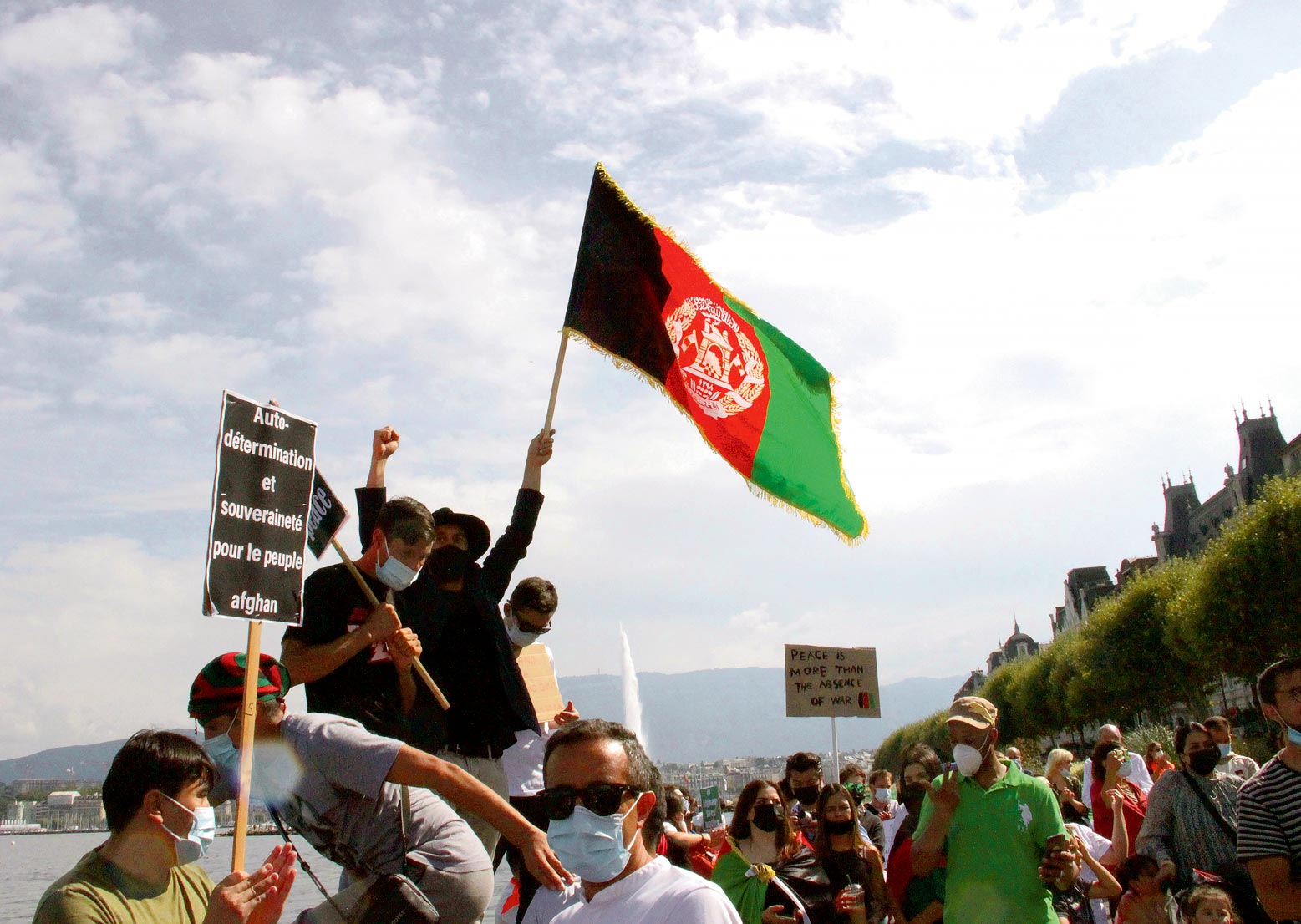 Manifestation en solidarité avec l'Afghanistan