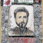 Portrait de Léo Frankel dans une mosaique